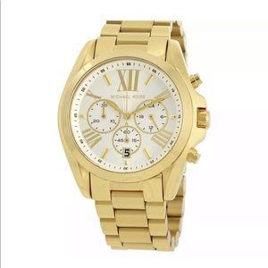 Michael Kors Bradshaw Gold Tone Unisex Watch BNIB